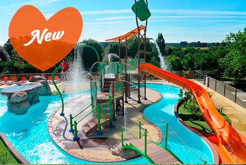 New Fun aquatic park in Mané Guernehué campsite