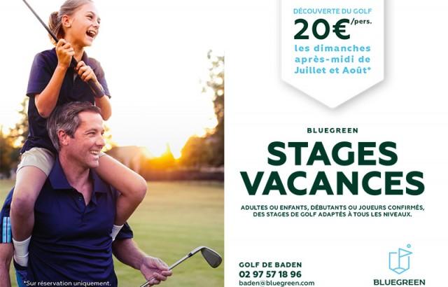 Stage vacances au Golf Bluegreen de Baden