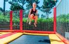 Envol au trampoline