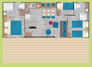 Plan du Patio Suite quartier belle ile