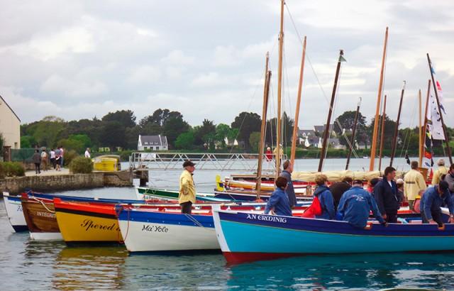 Des voiliers de travail traditionnels dans le Golfe du Morbihan