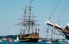 Une réplique du Shtandart, vaisseau russe de 1703