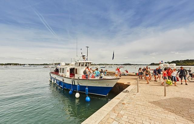 Arrivée à l'Ile aux moines © A. Lamoureux OT Golfe