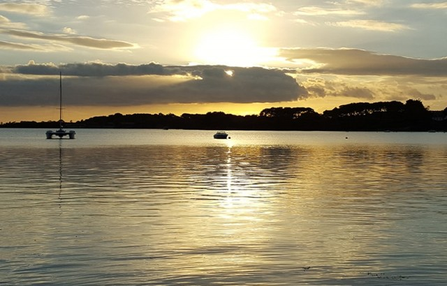 Coucher de soleil sur le Golfe du Morbihan