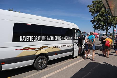 Navette gratuite Camping - Port Blanc