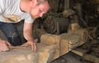 Pierre Marie a sculpté le Totem