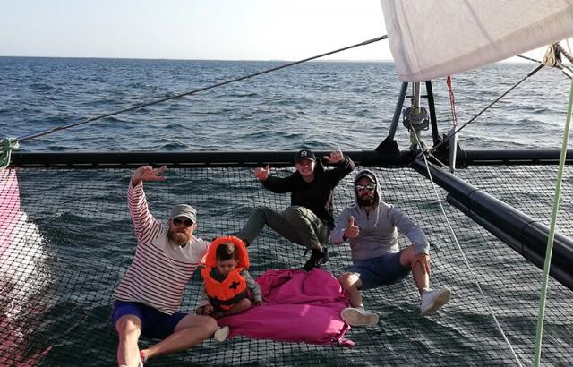 A bord du maxi Catamaran Caseneuve