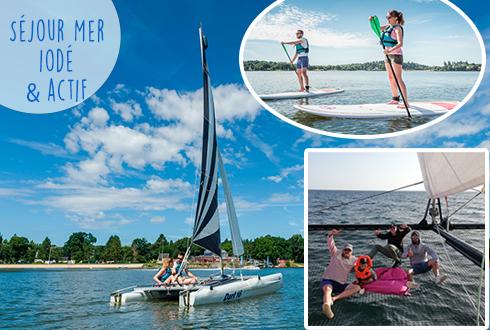 Séjour à la mer iodé et actif, voile, kayak, paddle
