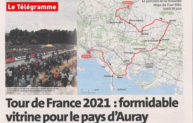 Tour de France à vélo 2021 © Le Télégramme