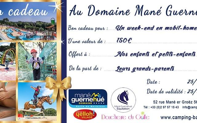 Bon cadeau pour un séjour ou un week-end au domaine Mané Guernehué